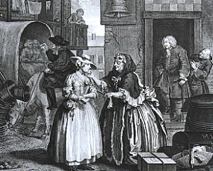 Plate I, The Arrival  in London